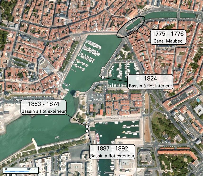 Mesures du niveau de la mer et nivellement au vieux port de la rochelle - Cuisine sur mesure la rochelle ...